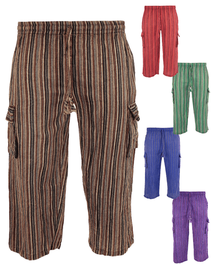 Karma Gear Stonewashed Festival Cotton cropped trousers NG2102 Handmade and Fair Trade