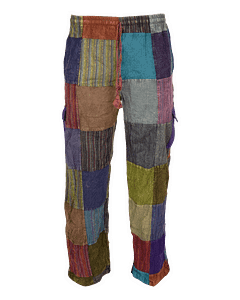 Karma Gear Eco Patchwork Nepalese Cargo Trousers NG151418 Handmade Fairly Traded Hippy Boho Trousers