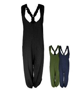 Relaxed Cotton Dungarees | Karma Gear