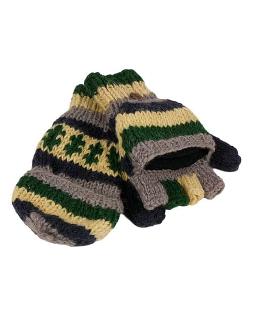 Karma Gear Fingerless Gloves to Mittens Fleece Lined Handmade and Fairly Traded from Nepal