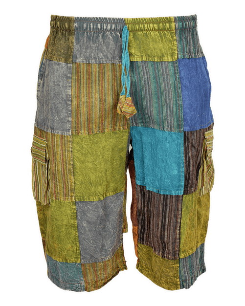 Karma Gear Eco Patchwork Shorts NG1813 Handmade and Fairly TRaded from Nepal with Love
