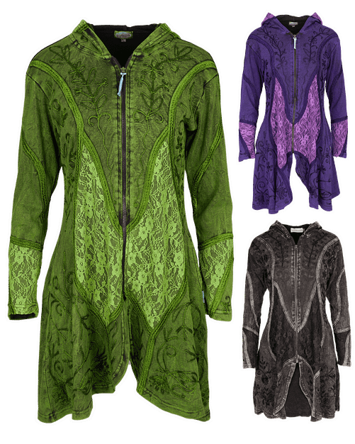 Karma Gear Fantasy Embroidered Light Jacket PG1807 Handmade and Fairly Traded from Nepal