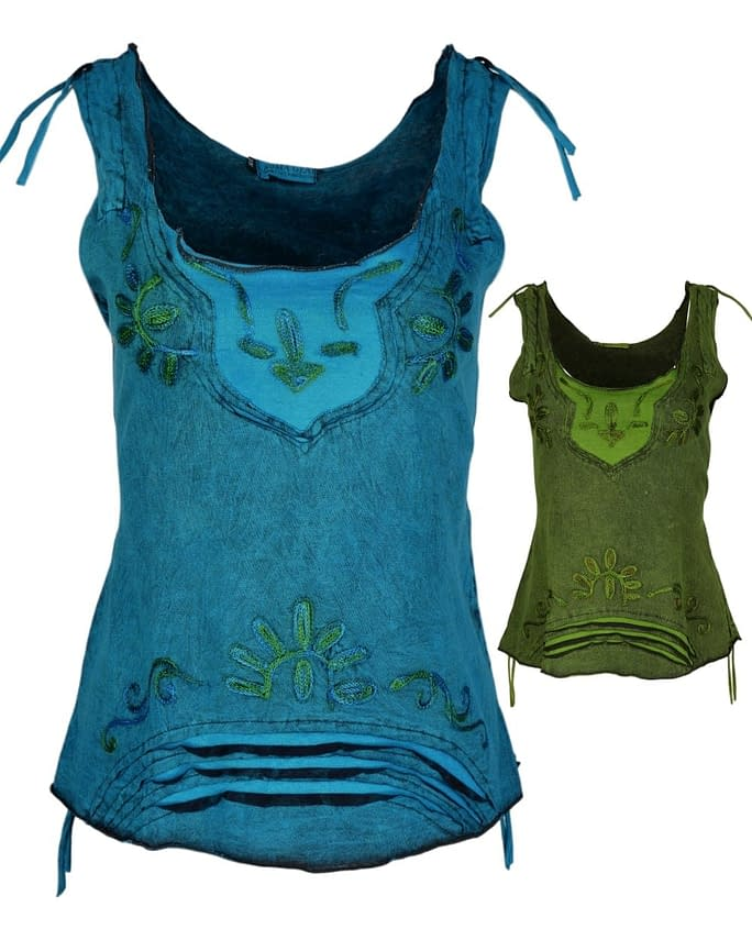 Karma Gear Cut out Embroidered Festival Vest Handmade Fair trade gallery