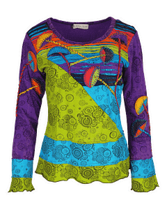Karma Gear Toadstool Top Bright Hand made and Fairly Traded from Nepal With Love Purple 1