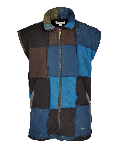 Karma Gear Patchwork Body Warmer NG1900 Handmade and Fairly Traded from Nepal