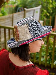 Recycled Patchwork Hat Handmade in Nepal Fair Trade Karma Gear