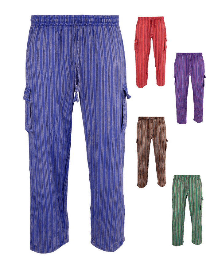Karma Gear Stonewashed Festival Cotton Trousers NG1706 Handmade and Fair Trade Green 1