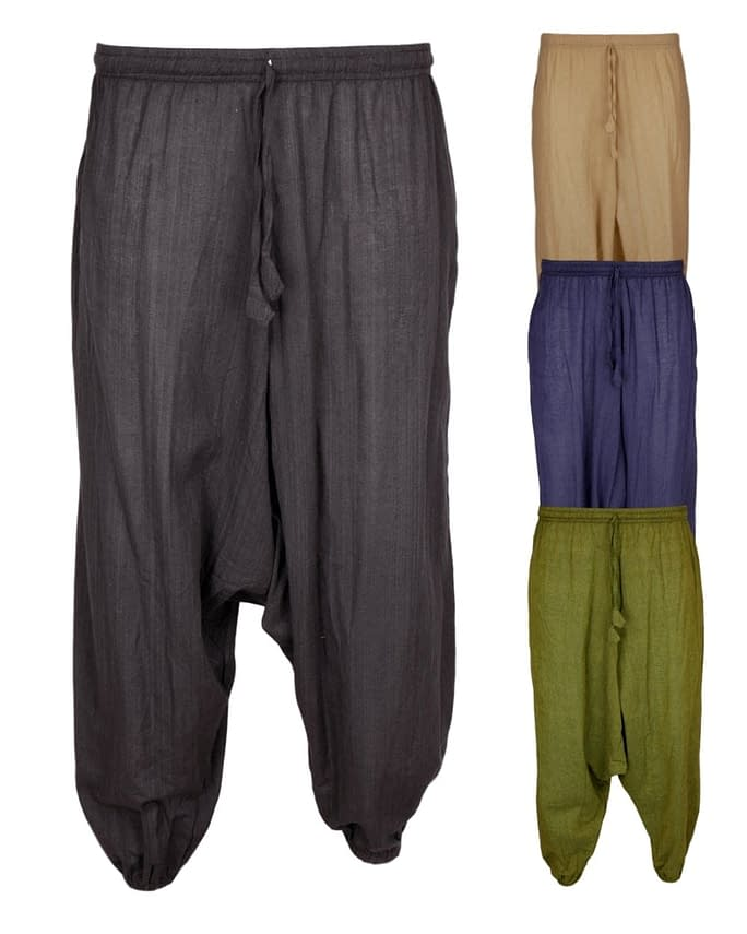 Karma Gear Light Cotton Harem Trousers NG1914 Handmade and Fairly Traded from Nepal