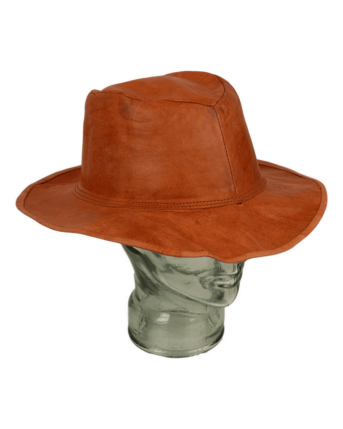 Karma Gear Leather Hat Handmade and Fairly Traded from India