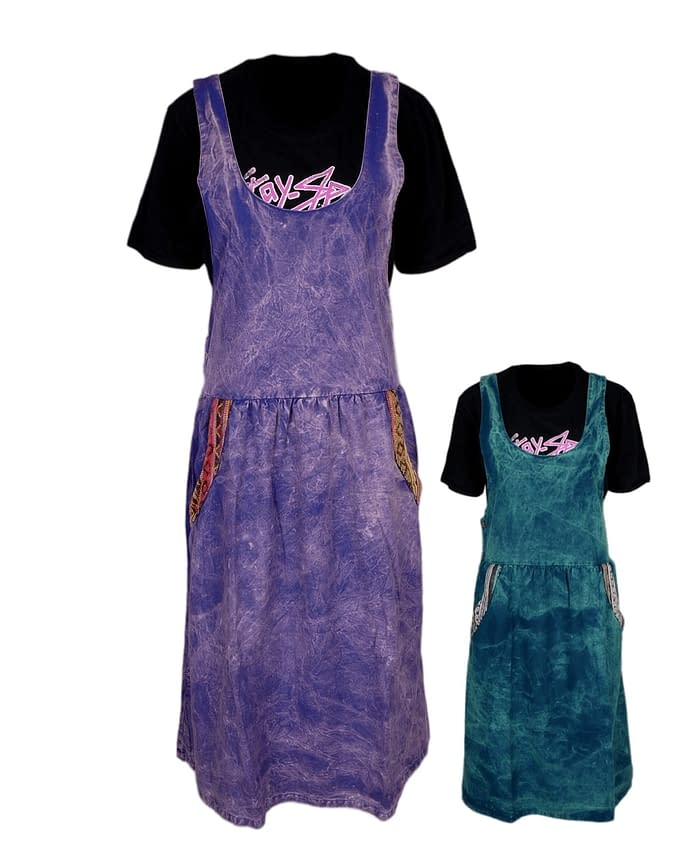 Karma Gear Stonewashed Lagenlook Dress NG1904 Handmade and Fairly Traded from Nepal with Love