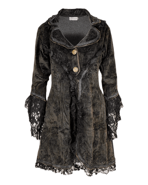 Karma Gear Lace and Velvet Coat PG1807 Handmade and Fairly Traded from Nepal with Love